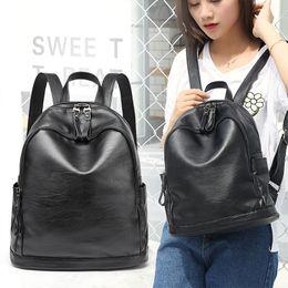 $enCountryForm.capitalKeyWord Australia - 2019 new backpacks Korean fashion fashion simple versatile soft leather backpacks large capacity casual travel bags