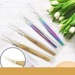 Vente en gros Vetus Brand Premium Beauté Pincettes Maquillage Pinceaux Extension Pincettes Top Qualité Ultra Fine Pointe Ciseaux Antistatique