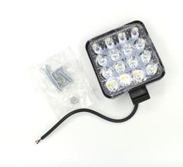 HeadligHt modified online shopping - 2PCS car auxiliary LED spotlight work light mini square light W modified headlights spotlights headlights