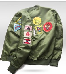 6xl motorcycle Australia - Bomber Jacket Mens Ma-1 Flight Jacket Pilot Male Ma1 Army Green motorcycle and Coats Mandarin Collar 6XL