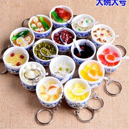 $enCountryForm.capitalKeyWord Australia - Simulation Key Chains noodle Creative Keychain Chinese Blue and white porcelain Bowl Mini bag pendant B141