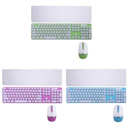 Discount keyboard chocolate - 2.4G Colorful Round Chocolate Button Wireless Mouse and Keyboard Combo Set