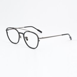 8404b48cc6 retro eyeglass male 2019 - width-138 Ultra-light retro men titanium woman  full