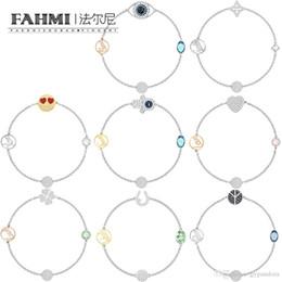 Eye Shaped Pendants Australia - FAHMI SWA REMIX COLLECTION Invisible Magnetic Buckle Devil's Eye Star Heart Shape Four-Leaf Clover Bracelet Match Pendant