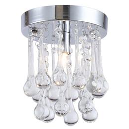 modern ceiling lights for living room 2019 - LED Crystal chandelier 110V 220V Personality raindrop Crystal Light for Aisle Ceiling Corridor Cristal Lustres Light Cha