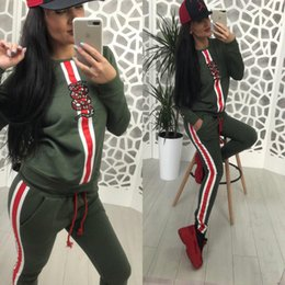 Sport Women Suit Long NZ - hotEurope and the United States explosion models 2019 high-end spring women's new fashion long-sleeved sports and leisure suit women