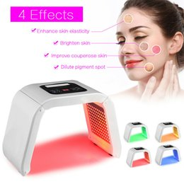 $enCountryForm.capitalKeyWord Australia - Korea Portable OMEGA Light PDT LED Therapy Red Blue Green Yellow 4 Color Led Face Mask Light Phototherapy Lamp Machine For Skin Rejuvenation