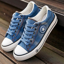 $enCountryForm.capitalKeyWord Australia - Fashion Women Sneakers Denim Casual Shoes Female Summer Canvas Shoes Trainers Lace Up Ladies Basket femme Stars tenis feminino