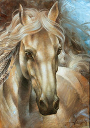 $enCountryForm.capitalKeyWord Australia - art,oil painting ,Landscape painting ,Frame painting (horse-II)Unframed Modern Canvas Wall Art for Home and Office Decoration.