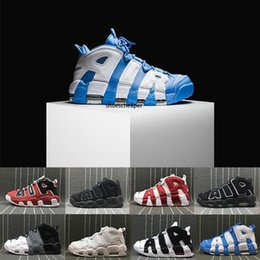 basketball shoes uptempo NZ - Cheap more 96 QS Olympic Varsity Maroon Mens Basketball Shoes for men 3M Scottie Pippen Uptempo Sports Sneakers 8-13