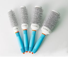 round hair brush sizes NZ - Hair Dressing Brushes High Temperature Resistant Ceramic Iron Round Comb (27mm) 4 Sizes Curling Hair Styling Tool Hairbrush
