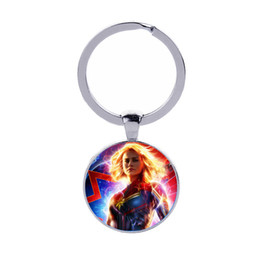 $enCountryForm.capitalKeyWord UK - Captain Marvel Logo Keychain Superhero Alloy Pendant Keyring Gifts for Boys Moive Fans Fashion Key Chains Jewelry Wholesale