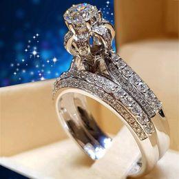 Wholesale Bridal Gifts Australia - Fashion CZ Stone Luxury Female Bridal Wedding Ring For Women Engagement Rings Gift