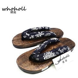 beeb6f2ad5cf Summer man Sandals Japanese geta wooden slippers paulownia clogs Native  Shoes Round Toe Cosplay costume Flats Flip Flops