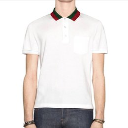 Wholesale mens red polo for sale – custom bee Polo shirts mens designer t shirts fashion brand clothing short sleeve calssic luxury tshirt High Quality Business Casual tops tee X XL
