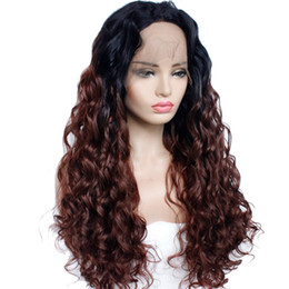 $enCountryForm.capitalKeyWord NZ - ombre Synthetic lace front wigs loose wave High Temperature Fiber simulate human hair ombre wigs Synthetic Lace Front Wigs Natural Hairline