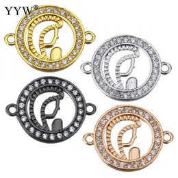 $enCountryForm.capitalKeyWord Australia - wholesale 2018 New Arrival brass jewelry Connector High Quality Donut plated micro pave cubic zirconia Pendant