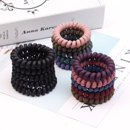 $enCountryForm.capitalKeyWord Australia - Women Girls Frosted Coil Hair Ties Large Hairbands Elastic Hair Rope Rubber Ring Ponytail Holder For Women Girls Thick Hair Accessories