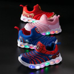 kids led flash shoes NZ - Designer Kids Shoes Flash LED Run Shoes Anime Pattern Children running shoes Infant outdoor toddler athletic boy & girls sneaker