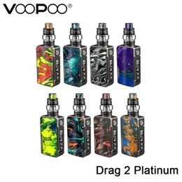 mod kits vape Australia - Original VOOPOO Drag 2 Platinum Kit DRAG 2 Platinum Mod with UFORCE T2 Tank Fit UFORCE U2 Coil Electronic Cigarette Vape mod