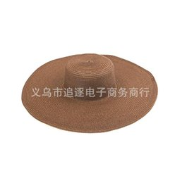 Sunny Hats Australia - 2019 new hot breathable Korean version of the big hat sun shade hot beach Panama big straw hat sunny big hat wholesale