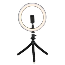 Tycipy 26cm Selfie LED Ring Light مع ميني ترايبود حامل حامل الهاتف لفون XS MAX 8 7 6 Plus Smart Photography Photography Makeup