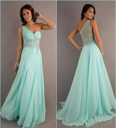 sparkle pageant dresses NZ - One Shoulder Floor Length Sparkle Evening Gowns Custom Long Formal Occasion Pageant Dresses Plus Size