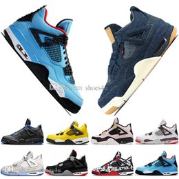 $enCountryForm.capitalKeyWord NZ - With Box Top Cheap Newest Bred 4 4s What The Cactus Jack Laser Wings Mens Basketball Shoes Eminem Pale Citron Men Sports Designer Sneakers