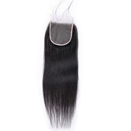 $enCountryForm.capitalKeyWord Australia - Brazilian Straight Virgin Transparent Lace Closure 4x4 With Baby Hair Real Natural Human Hair Product 10A Soft 20inch Online Drop Shipping