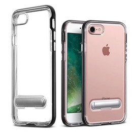 $enCountryForm.capitalKeyWord Australia - For Iphone 6 7 8 Plus Xs Max Xr X Kickstand PC TPU Dual Layer Protection Shock Absorbing Crystal Combo Cover Case