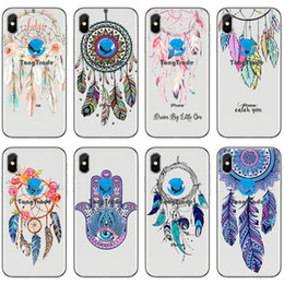 p painting Canada - [TongTrade] Soft Silicone TPU Case For iPhone 11 Pro X XS Max 8 7 6s 5s Plus Huawei P30 P20 Pro P Smart 2019 Painted Dreamcatcher Case
