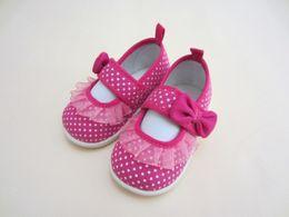 $enCountryForm.capitalKeyWord Australia - DHL 50pair Lace Spring Newborn baby boy Girls Booties Polka Dot Baby Shoes Moccasins Newborn Girls Booties First Walkers