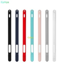 2nd ipad online shopping - Soft Silicone Cases For Apple Pencil nd Generation Case For iPad Pencil Cap Tip Cover Holder Tablet Touch Pen Stylus Pouch Sleeve