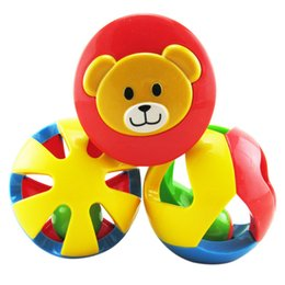 kids toy ball rattle 2019 - rattle toys 3pcs set Baby Rattle Toys Children Funny Loud Gym Jingle Ball Rattling Bell Crawling Balls Kid Develop Toy C
