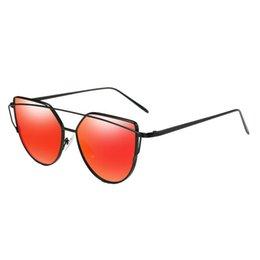 Sunglasses Original Packing Australia - SunBreeze Original Brand Fashion Luxury Flat Lenses Metal Shiny Gold Frame for Men And Women High Quality Sunglasses UV400 With Packing