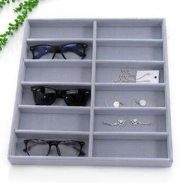 Modern Display Cases Australia - Sunglasses Storage Box Glasses Organizer Display Case Collector Eyeglass Box 12 Grids Sunglasses Storage Holder Jewelry Organizer