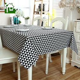 $enCountryForm.capitalKeyWord NZ - New modern contracted black triangle geometry table table tablecloth, cotton and linen cloth art desk