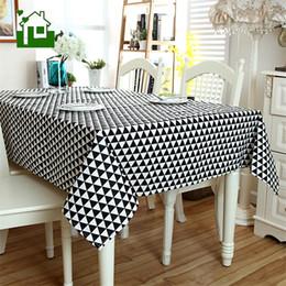 Ingrosso Tovaglietta da tavolo moderna geometrica triangolare triangolare, tavolo in cotone e lino