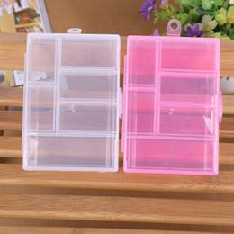 $enCountryForm.capitalKeyWord Australia - Storage Case Box Holder Container Pills Jewelry Nail Art Tips 6 Grids Makeup organizer jewelry box Clear plastic