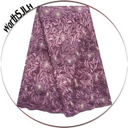 $enCountryForm.capitalKeyWord Australia - Latest Nigerian Lace Fabrics Lilac Peach African French Lace Fabric High Quality 2019 Nigeria African Tulle Lace Fabric