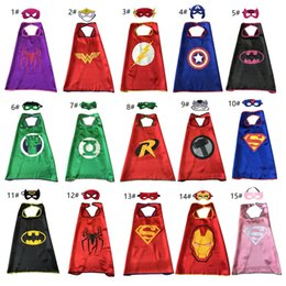Cosplay Hero Cape Australia - 15 Style Single Layer Superhero Cape + Mask for Children Kids Top Quality Super Hero Costumes Cartoon Movie Cosplay Cape Birthday Gifts