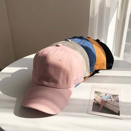 Wholesale women headgear resale online - Casual Letter Embroidery Baseball Cap Girls Sunscreen Breathable Solid Colors Headgear Girls Fashion Men And Women Sun Cap Hat