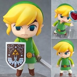 Zelda Link Figure Australia - The Legend Of Zelda Nendoroid Link The Wind Waker Breath Of The Wild Version 413 553 733 Pvc Action Figure Y190604
