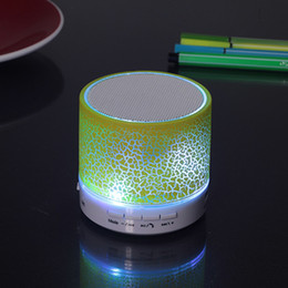 Smallest Portable Stereo Speaker Australia - A9 Portable Mini LED Bluetooth Speakers Wireless Small Music Audio TF USB FM Light Stereo Sound Speaker For Phone With Mic
