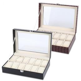 $enCountryForm.capitalKeyWord UK - 12 Soft Watch Box Jewelry Storage Organizer Display Storage Organizer Watches Boxes Container Case Holders