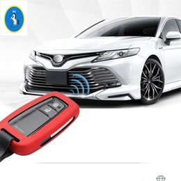 key chain carbon fiber NZ - Yimaautotrims Key Case Shell Chains Cover Trim ABS Carbon Fiber Look Fit For Avalon 2019 Camry 2018 - 2020 Auto Accessory