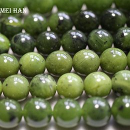 $enCountryForm.capitalKeyWord Australia - Meihan Wholesale Natural 10mm,12mm A+ Canadian Jadeite Nephrite Smooth Round Loose Beads For Jewelry Making Diy Design J190625
