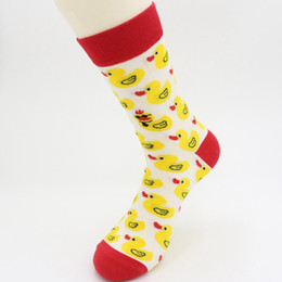 4bd038d11fd72 New Men Cartoon Hip Hop Cool Yellow Duck Socks Cotton Skateboard Sock Art Funny  Socks Personality Tide Pet Elf Casual For Lovers