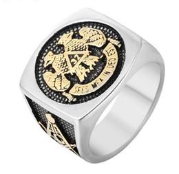 $enCountryForm.capitalKeyWord Australia - Free Shipping Mixed 6PCS Freemasonry PUNK gothic Gothic Lolita Skull Style Titanium steel Tisco ring Men Band Jewelry Bikers 21