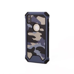 $enCountryForm.capitalKeyWord UK - Camouflage Army Armor Hybrid Case For Iphone Xs Mas Xr Xs X 8 7 Plus 2 in 1 Military Hard Plastic+Soft TPU Silicone Luxury Cell Phone Cover
